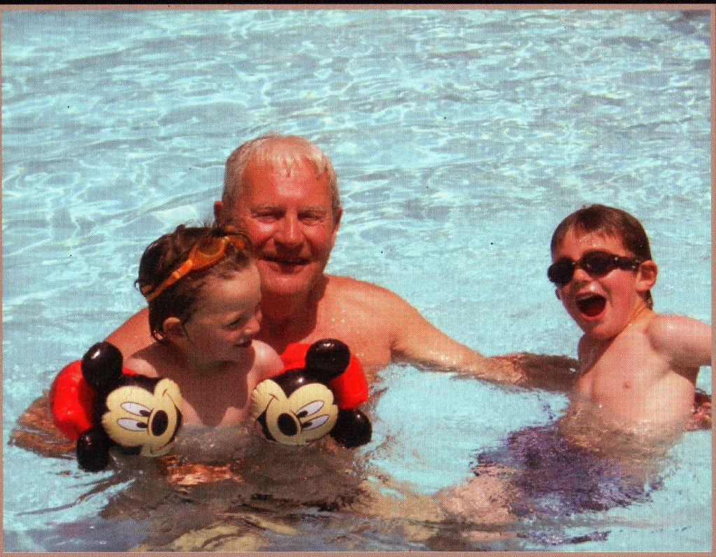 Vivian Timon with Roger and Harry Timon in Cyprus